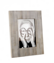 Load image into Gallery viewer, Pin Stripe White & Black Bone Frame