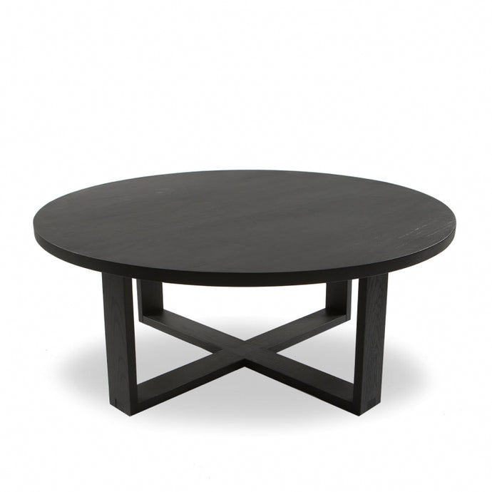 Tait Oak Round Coffee Table Black