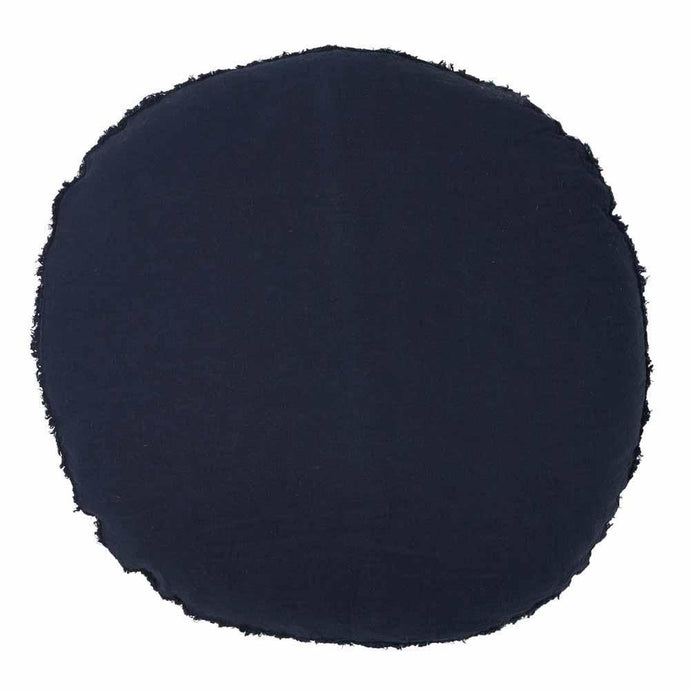 Lulu Round Cushion - Navy