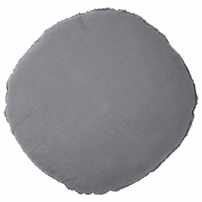 Lulu Round Cushion - Slate Grey