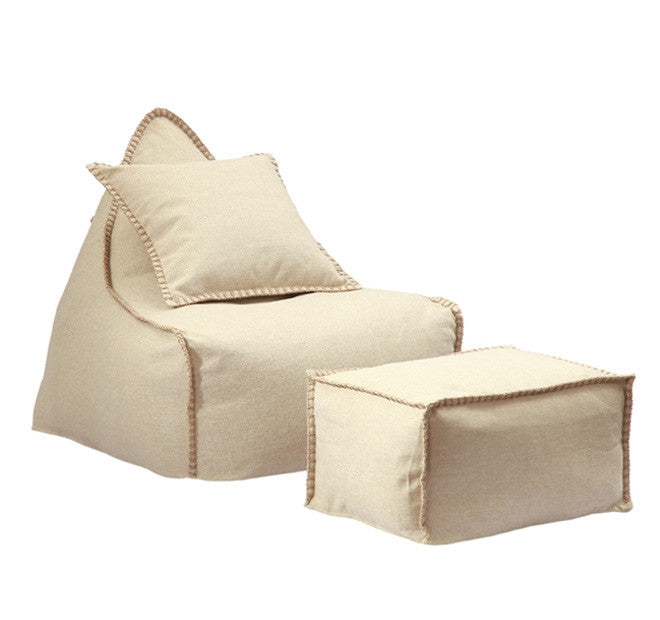 Mero Natural  Bean Bag and Ottoman Set