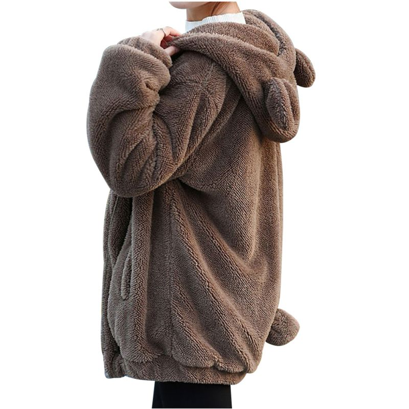 Warm and Fluffy Bear Hoodie - Free + Shipping