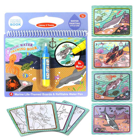 Image of Magic Water Drawing Coloring Book