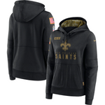 New Orleans Saints Nike Women's 2020 Salute to Service Performance Pullover Hoodie – Black