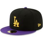 LA New Era Crossover 59FIFTY Hat - Black/Purple