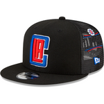 LA Clippers New Era Scatter Trucker 9FIFTY Snapback Hat - Black