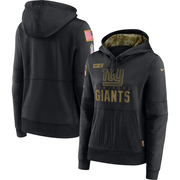 New York Giants Nike Women's 2020 Salute to Service Performance Pullover Hoodie – Black