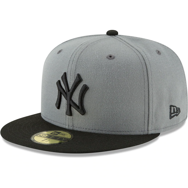 New York Yankees New Era Two-Tone 59FIFTY Fitted Hat - Gray/Black
