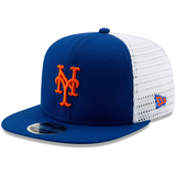 New York Mets New Era Mesh Fresh 9FIFTY Adjustable Snapback Hat - Royal/White