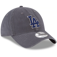 Los Angeles Dodgers New Era Primary Logo Core Classic 9TWENTY Adjustable Hat - Graphite