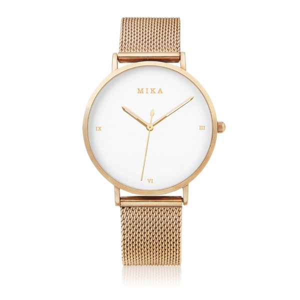 (PREORDER) STAINLESS STEEL MIKA GOLD WATCH