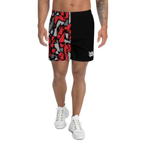 Red Camo Men's Athletic Long Shorts