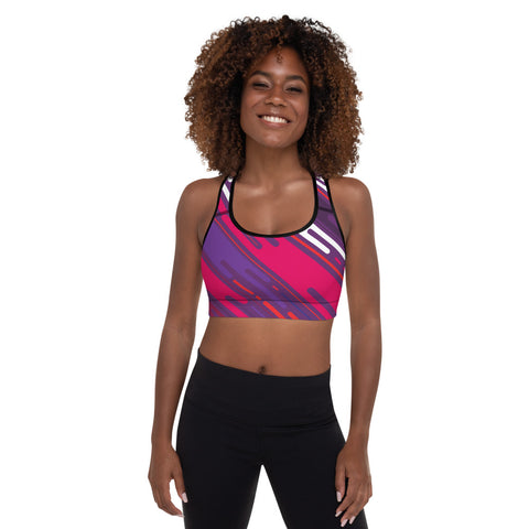 Distracted Padded Sports Bra