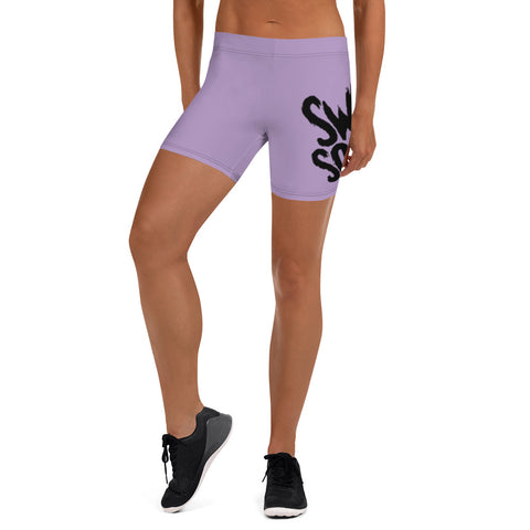 Lilac Wrap-Around Women's Athletic Shorts