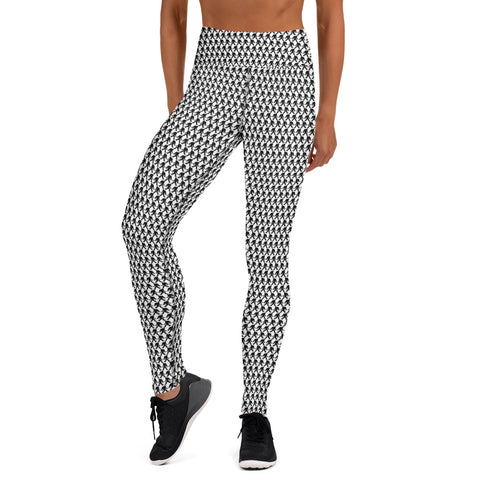 Houndstooth Print Yoga Leggings