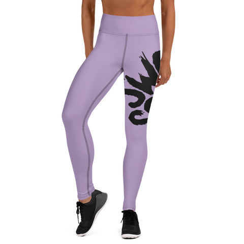 Lilac Wrap-Around Yoga Leggings
