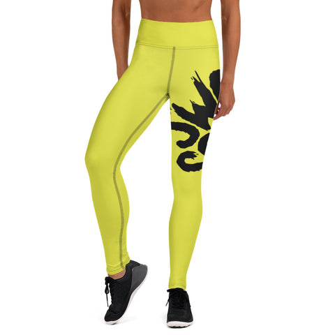 Neon Wrap-Around Yoga Leggings