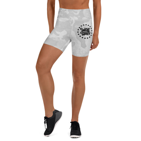 Ice Camo Women's Yoga Shorts Ambassador Exclusive