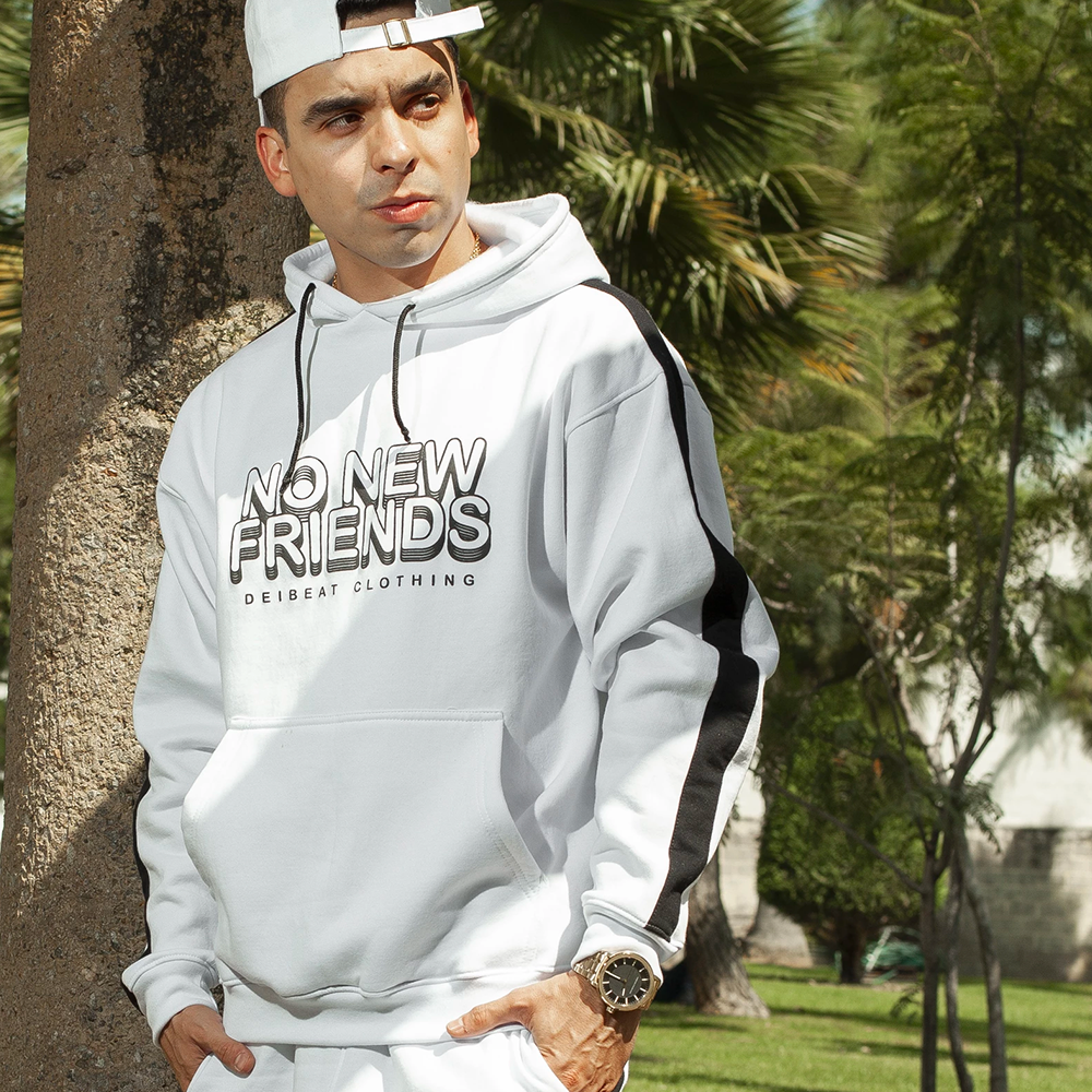 "Sudadera ""No New Friends"" BLANCA"