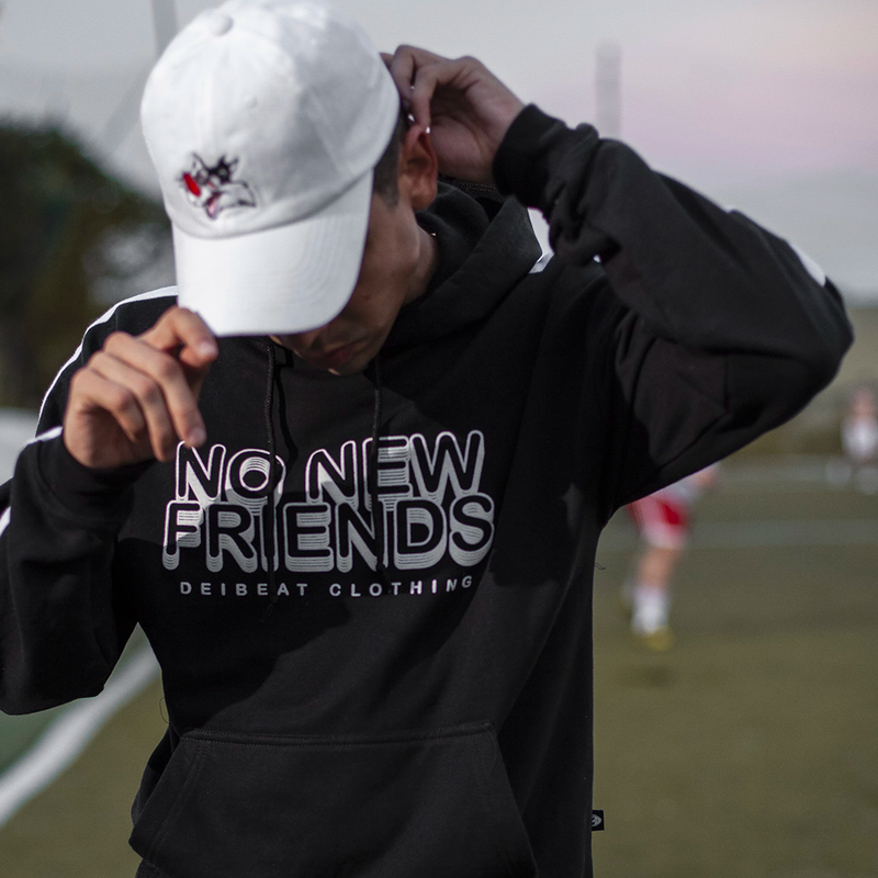 "Sudadera ""No New Friends"" NEGRA"