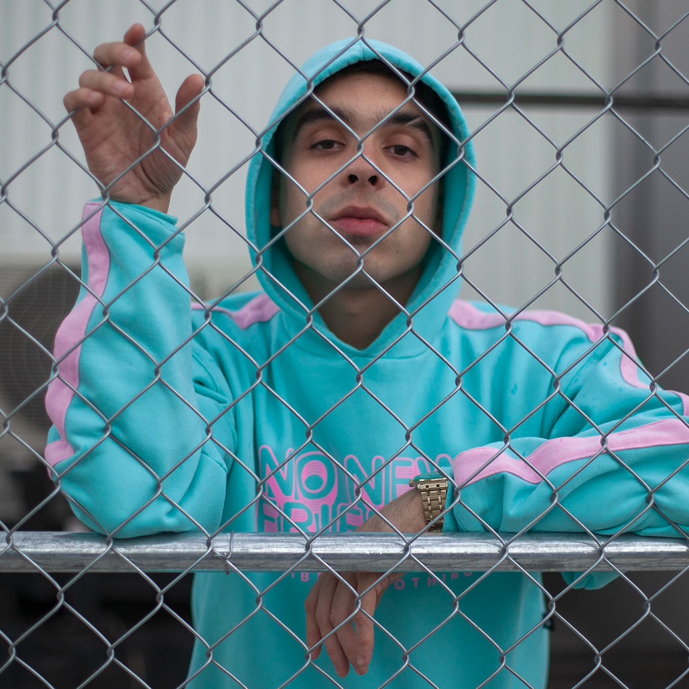 "Sudadera ""No New Friends"" AQUA"