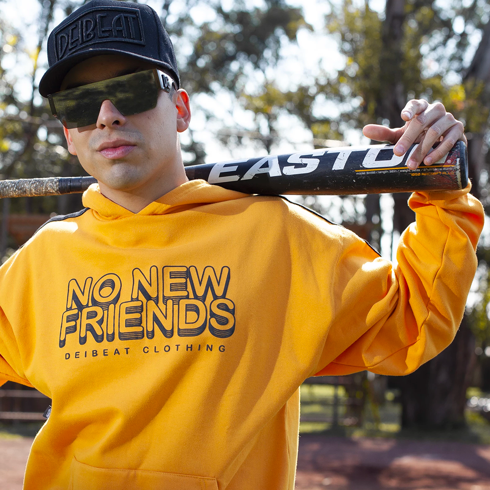"Sudadera ""No New Friends"" AMARILLA"