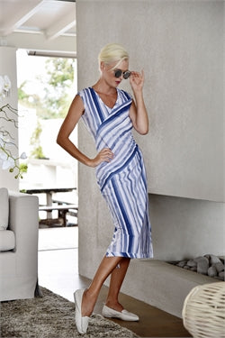 Paula Ryan - Stripe Spliced Dress