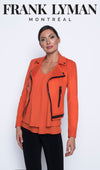 Frank Lyman Orange Cropped Jacket