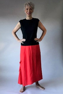 Linen and Viscose Skirt