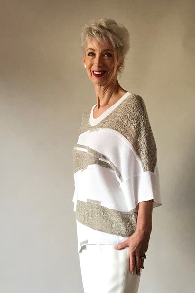 Square Textured Sweater
