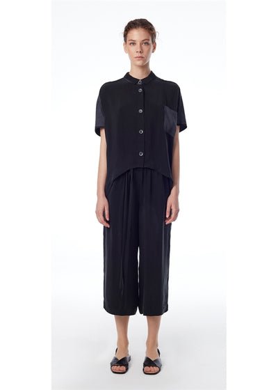 Cupro Wide Leg Pants