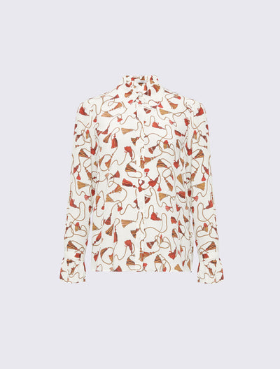 Marella Patterned Silk Shirt