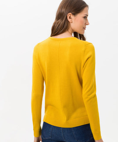 Brax Sweater Merino Cotton Mix (Honey)