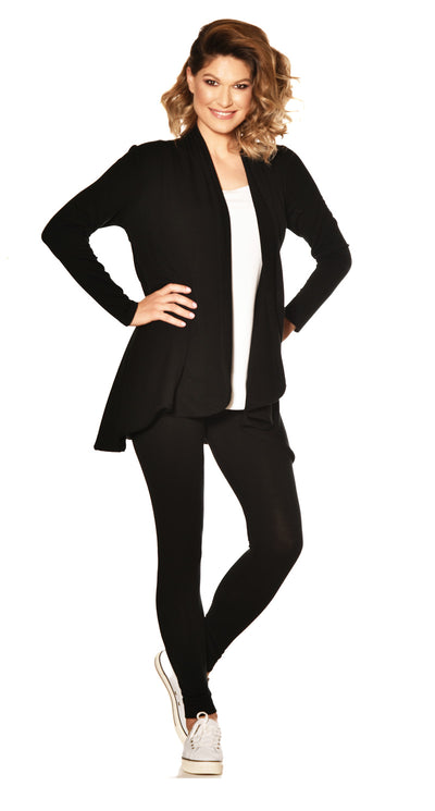 Merino Easy Fit Panelled Cardigan