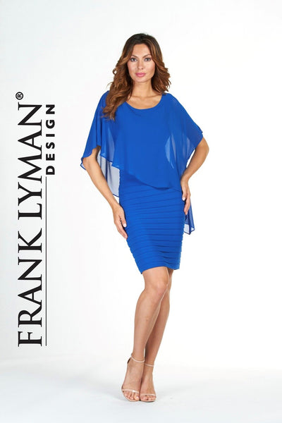 Frank Lyman Bandage Dress With Overlay