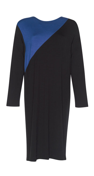 Spliced Front Merino Shift Dress