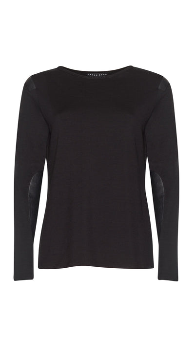Leather Patch Merino Top