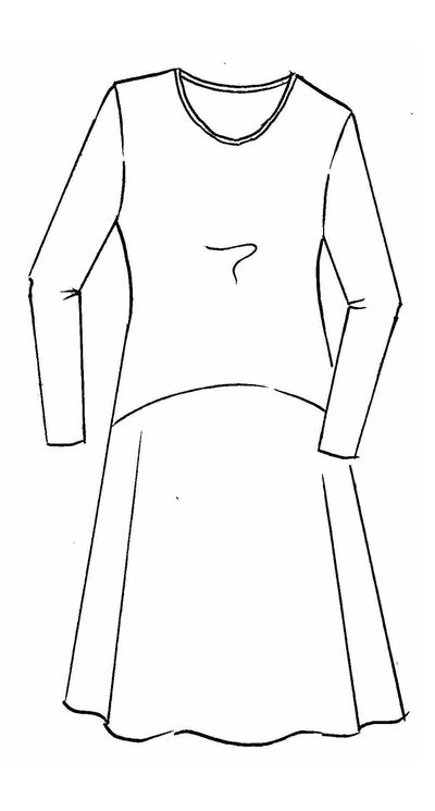 A Line Long Sleeve Dress