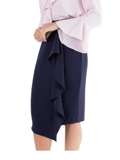 Tailored Skirt With Frill
