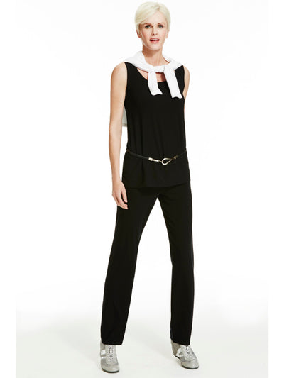 Microjersey Waisted Cigarette Pant