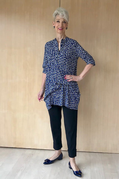 Indigo Spot Hitched Shirt