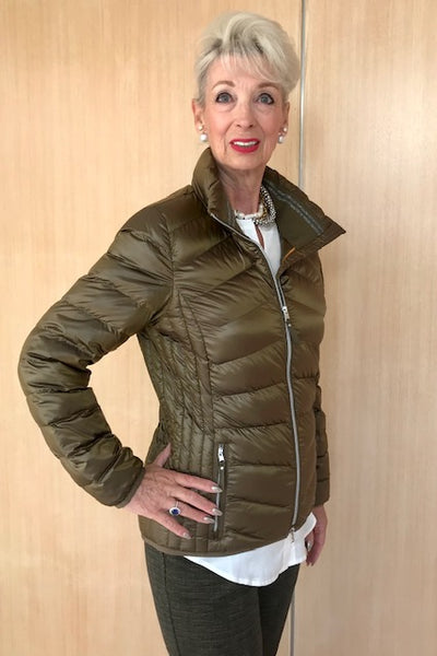 Brax Padded Olive Jacket