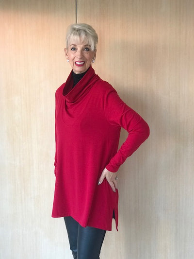 Cowl Neck Trapeze Top