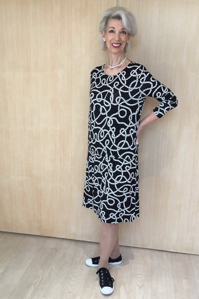 Juvia Rope Print Jersey Dress