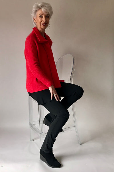 Crea Red Knitted Cardigan