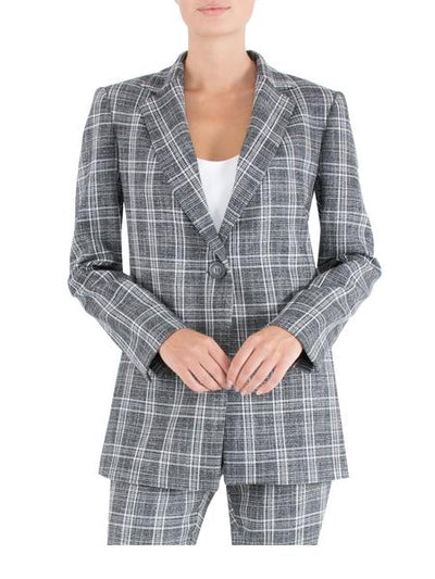 Long line Check Jacket