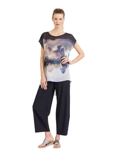 Lounge Pant with Snap Hem