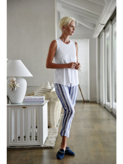 Stripe Slouch Cuffed Pant