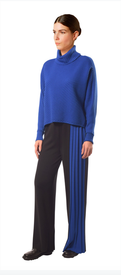 Crea Cobalt Blue Knitted Pullover