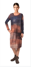 Crea Navy Print Knitted Dress
